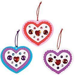 Jeweled Valentine's Heart Ornament Craft Kit