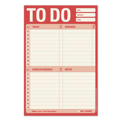 To Do Checklist Red Notepad