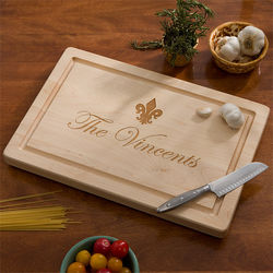 Personalized Family Name Maple Cutting Board