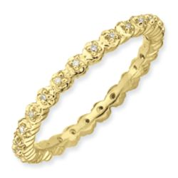 Gold Plated Stackable Diamond Ring