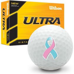 Blue and Pink Ribbon Ultra Ultimate Distance Golf Balls