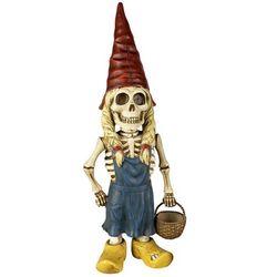 Woman Skeleton Gnome Garden Sculpture