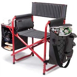 Red Portable Outdoor Fusion Chair with Attachments