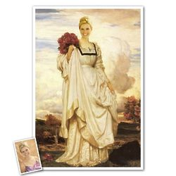 Classic Painting Countess Brownlow Personalized Print