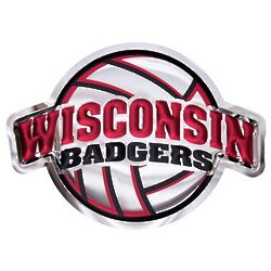 Wisconsin Badgers Volleyball Metal Wall Hanging