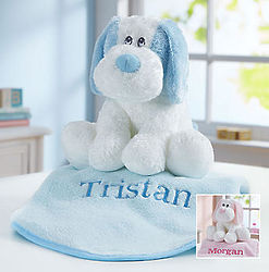 Plush Puppy and Personalized Blanket Set