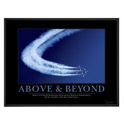 Above & Beyond Jets Mini Motivational Poster