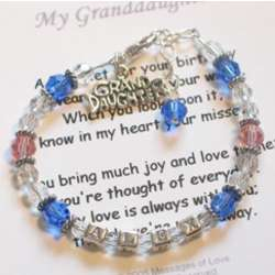 Granddaughter Birthday Wish Bracelet