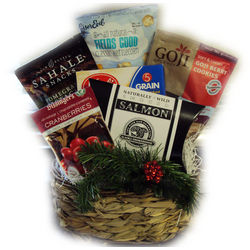 Happy Holidays Healthy Gift Basket