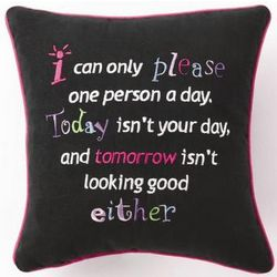 I Can Only Please Pillow
