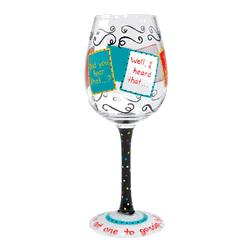 Gossip Hand-Painted Wine Glass