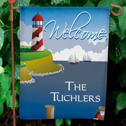 Lighthouse Personalized Garden Flag