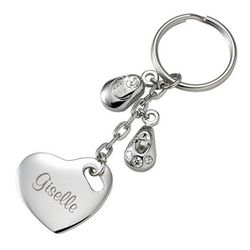 Baby Bootie Personalized Key Chain