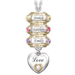 Forever in a Mother's Heart: Personalized Birthstone Necklace