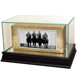 """4 Horsemen"" Notre Dame Brick in Acrylic Display Case"
