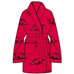 Ladies' University of Arkansas All Over Print Cozy Robe