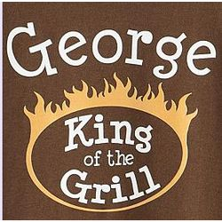 Personalized King of the Grill T-Shirt
