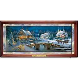 Holiday Homecoming Stained-Glass Wall Decor