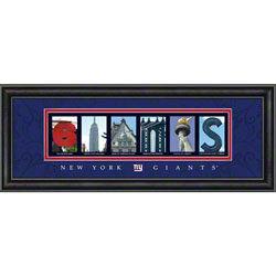 New York Giants Letter Art