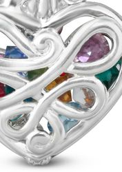 Mother's Heart with 12 Birthstones Locket