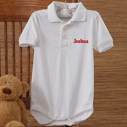 Personalized Polo Baby Romper