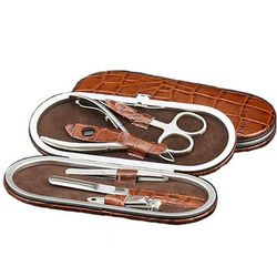 Leather Five Piece Manicure Set