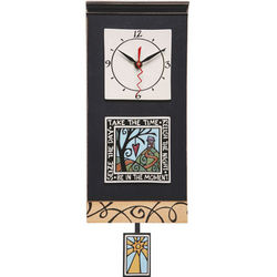 Seize the Day Art Pottery Clock
