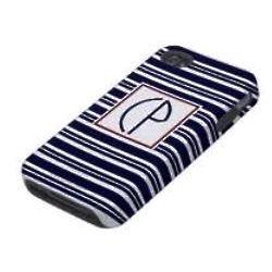 Blue Preppy Stripe Phone Cover