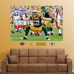 Clay Matthews Green Bay Packers Mural