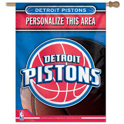 Detroit Pistons Personalized Vertical Flag
