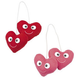 Plush Valentine's Hearts
