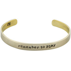 Remember To Play Cuff Bracelet