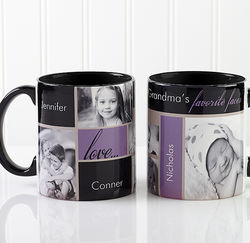 My Favorite Faces Photo Black Handle Coffee Mug
