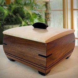 Handmade Wooden Ring or Cufflink Box