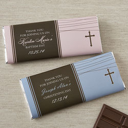 Baby Christening Personalized Candy Bar Wrappers