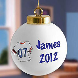 Personalized Sports Jersey Christmas Ornament