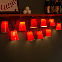 Large Red Cup Novelty String Lights