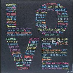 Words of Love Plaque