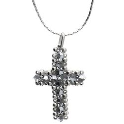 White Swarovski Cross Pendant with Chain