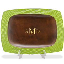 Monogrammed Wooden Serving Tray