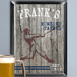 Home Run Personalized Sign