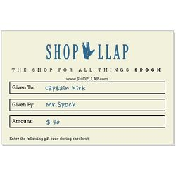 LLAP eGift Card for All Things Spock