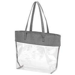 Personalized Houndstooth Clear Tote