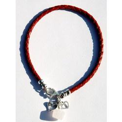 Rose Quartz Love Stone Braided Leather Bracelet