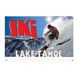 Ski Lake Tahoe Sign