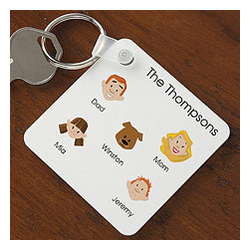 Personalized Family Character Key Ring