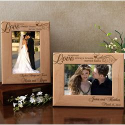 Personalized Love Always Wooden Picture Frame