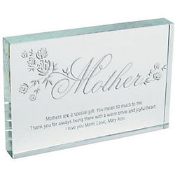 Personalized Mother's Block