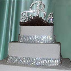 4 Row Crystal Rhinestone Wedding Cake Banding Ribbon - 3 Yards