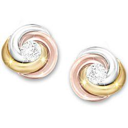 Lover's Knot Diamond Earrings